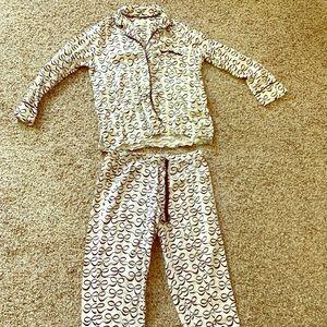 Kate Spade, Size S, black and white bow pajamas